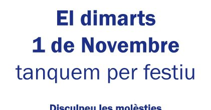Dimarts 1 Nov.